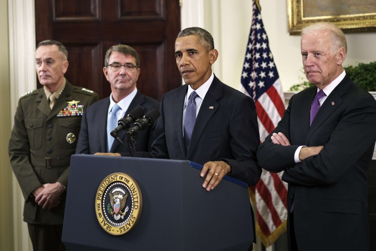 Image: President Barack Obama makes a statement in the Rosevelt Room of the White House