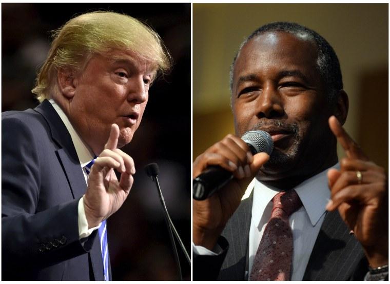 Image: Donald Trump and Ben Carson CNBC debate