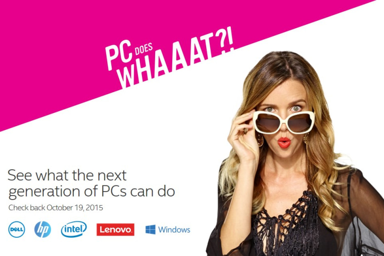 Image: 'PC Does What?' ad campaign