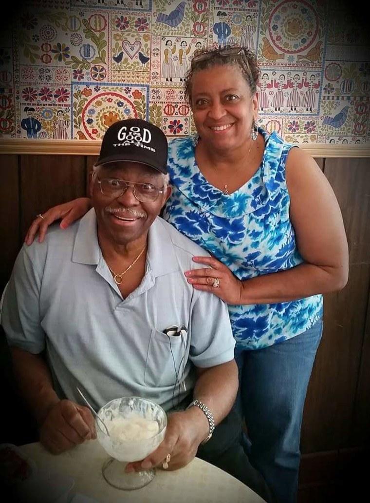 Gina Scott and her father Ervin Jones.