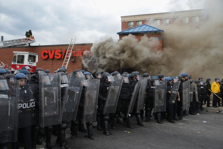 Image: Protests in Baltimore After Funeral Held For Baltimore Man Who Died While In Police Custody