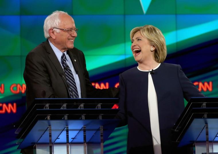 Image: ***BESTPIX*** Democratic Presidential Candidates Hold First Debate In Las Vegas