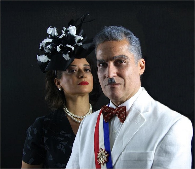 Adriana Sananes as Doña María and José Cheo Oliveras as Trujillo.