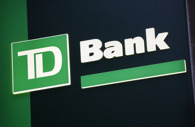 A sign for TD Bank is shown in New York in this Nov. 12, 2009 file photo.