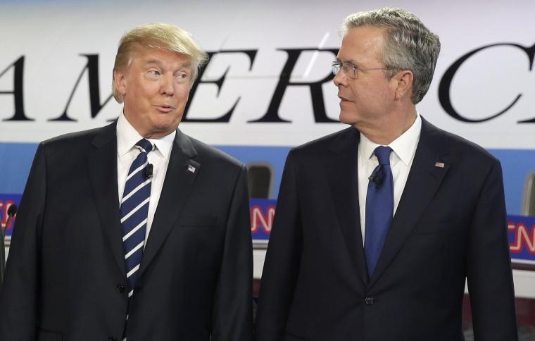 Image: Jeb Bush, Donald Trump