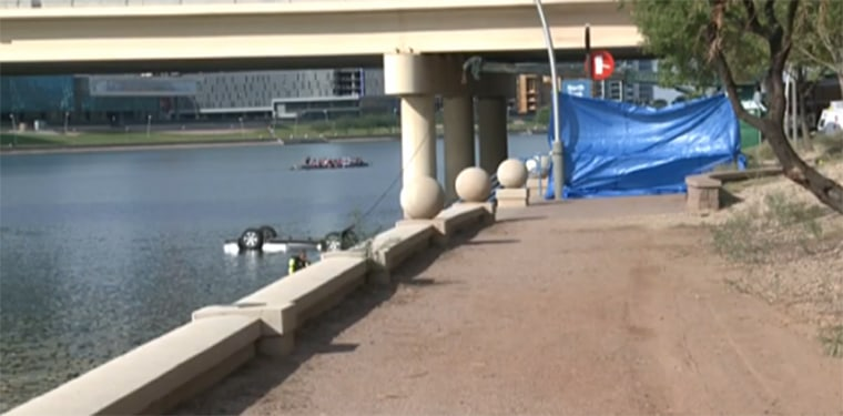 Four people, including a toddler and a baby are dead after an SUV plunged into Tempe Town Lake overnight Sunday, said Tempe, Arizona police.