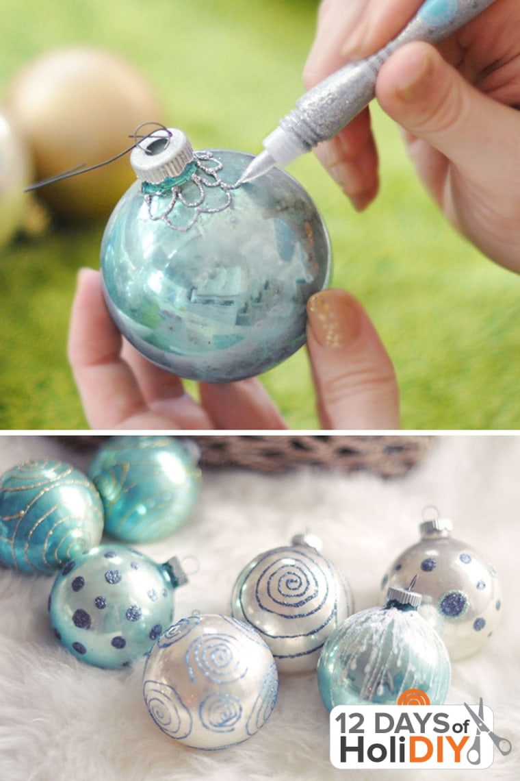 Holiday decorating ornament revamp