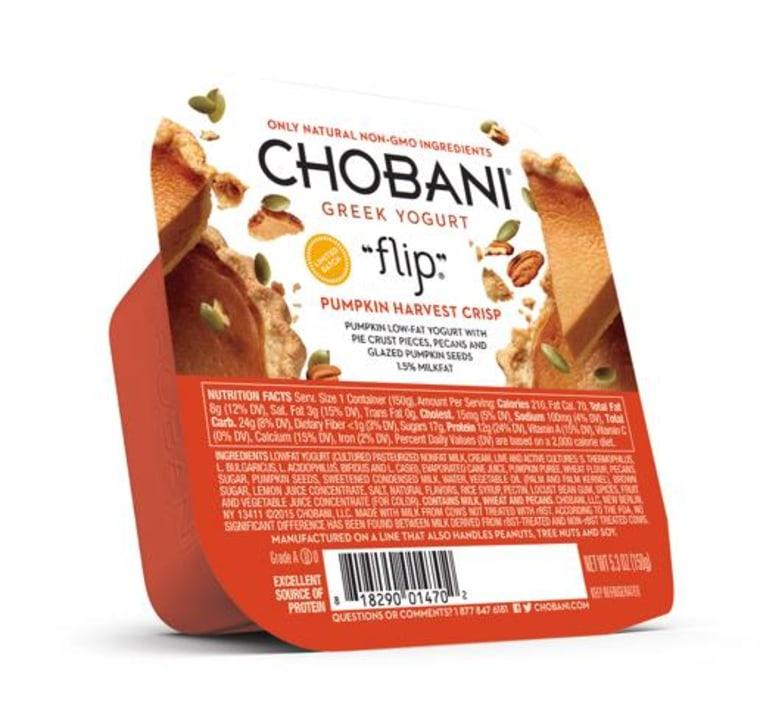 Chobani Pumpkin Harvest Crisp Greek Yogurt