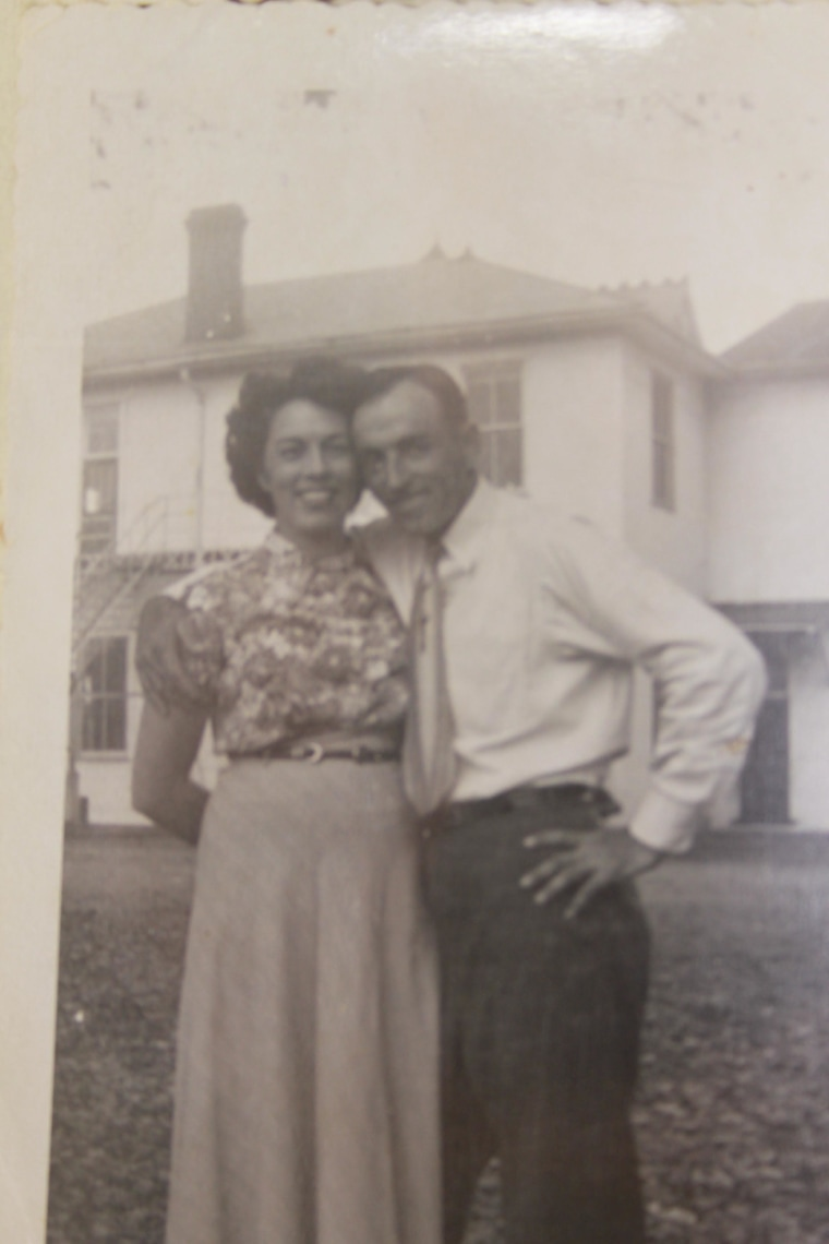Mazie and Raymond Huggins were married in 1940 in West Virginia, where he worked for a glass shipping company.