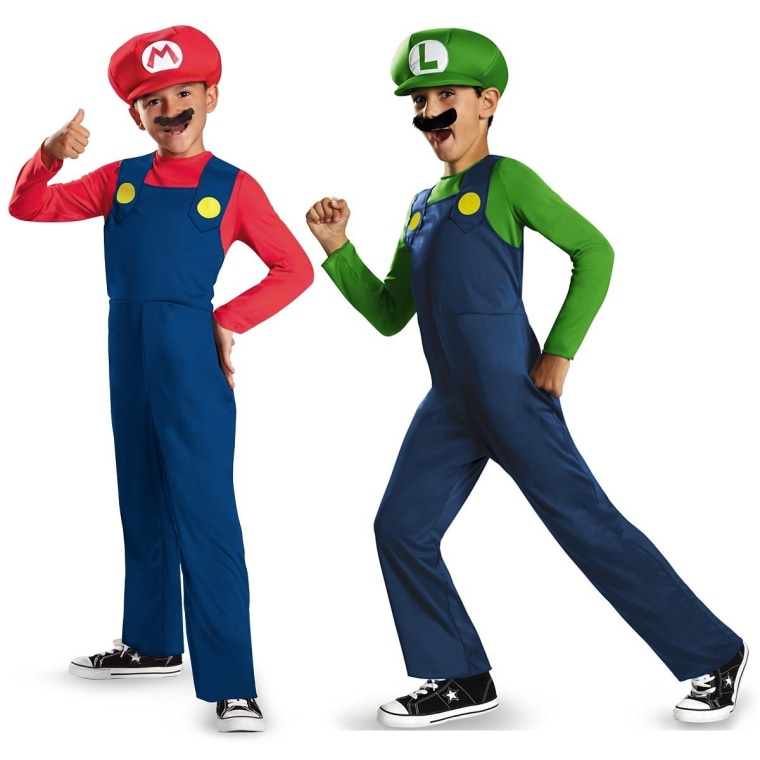 Super Mario Brothers are halloween favorites for kids this year