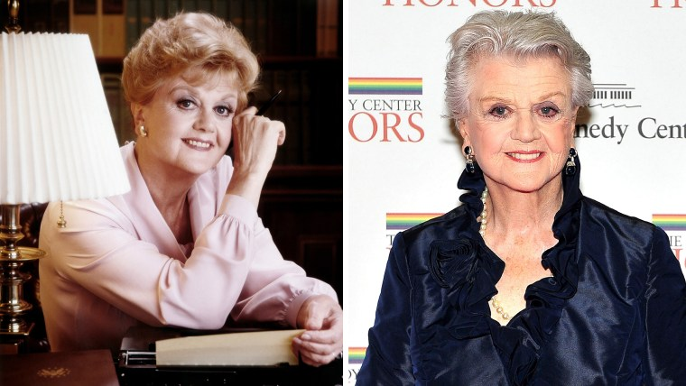 """Angela Lansbury as Jessica Fletcher in """"Murder, She Wrote"""" and today."""