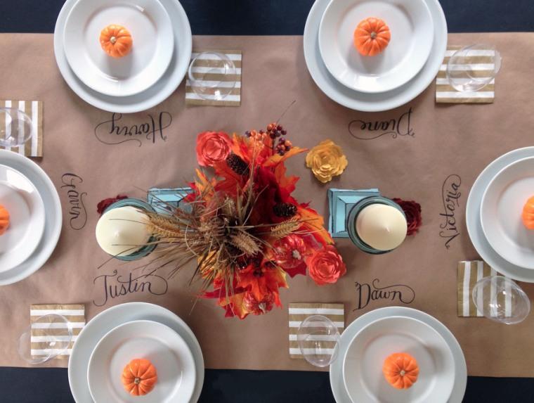 Thanksgiving Table Paper Runner