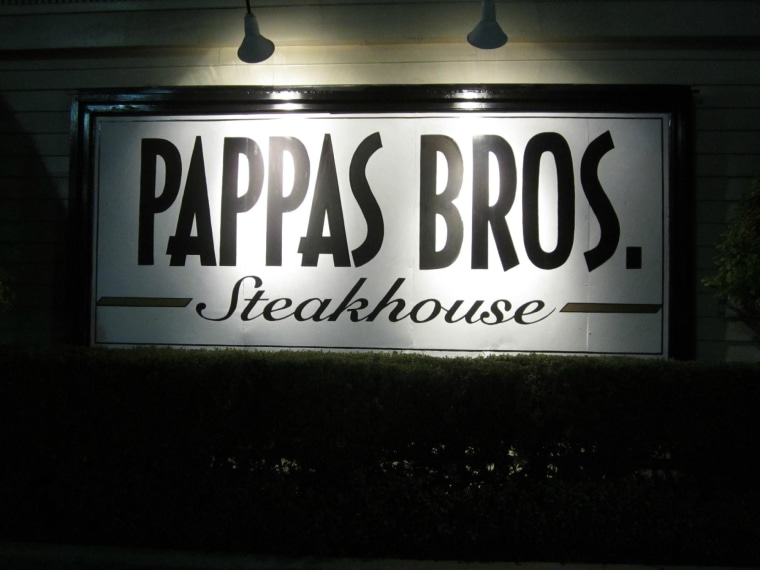 Pappas Bros. Steakhouse in Houston, Texas