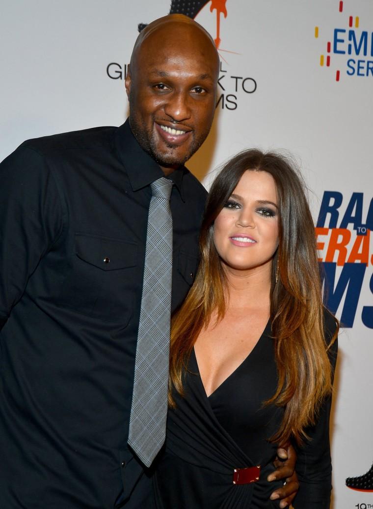Image: NBA player Lamar Odom and TV personality Khloe Kardashian