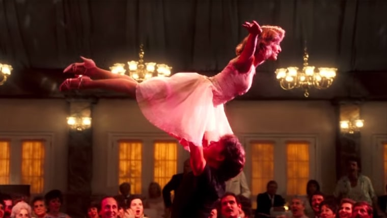"""Jennifer Grey and Patrick Swayze in """"Dirty Dancing"""" (1987)."""
