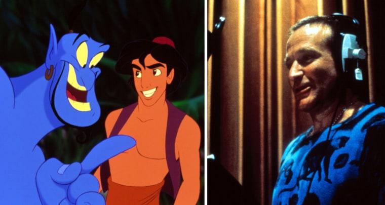 """Robin Williams as the Genie in """"Aladdin"""""""