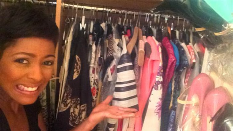 TODAY anchor Tamron Hall with her closet
