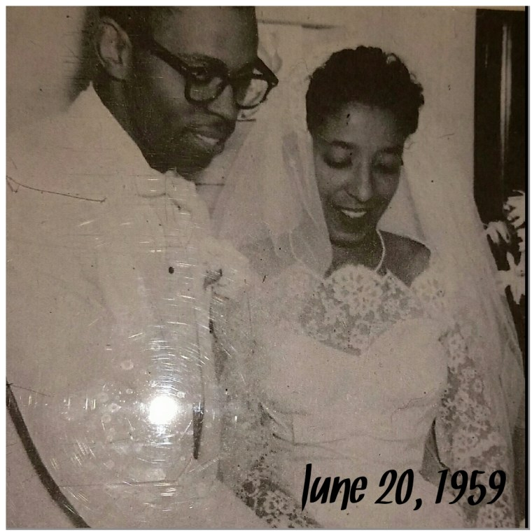 Ervin and Doris Jones on their wedding day in 1959.