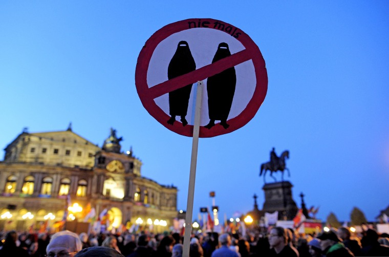 Image: PEGIDA supporters in Dresden, Germany