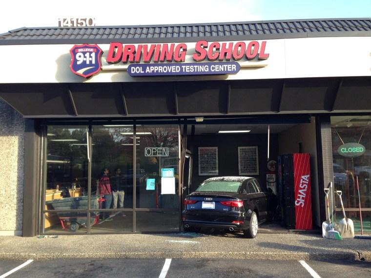 IMAGE: Accident at Washington driving school