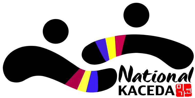 The logo for the National Korean American Coalition to End Domestic Violence is inspired by Ohbangsaek, five traditional colors used in Korean culture to represent the wholeness of the universe.