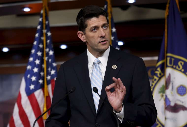Image: U.S. Representative Paul Ryan (R-WI) speaks at a news conference on Capitol Hill in Washington