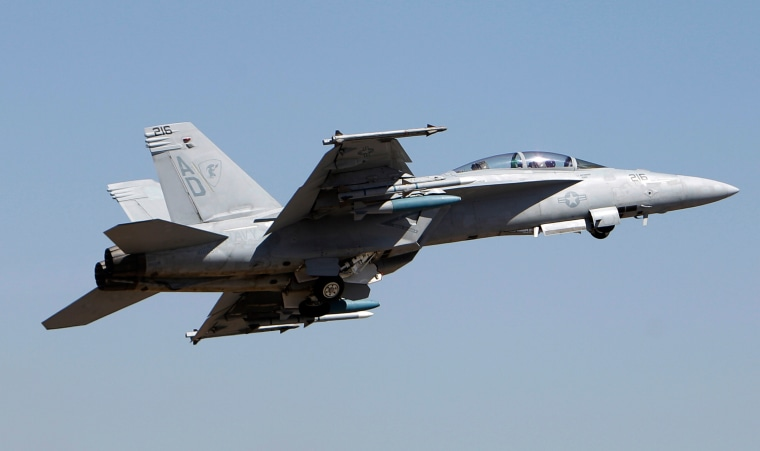 Image: American F-18 Super Hornet fighter aircraft