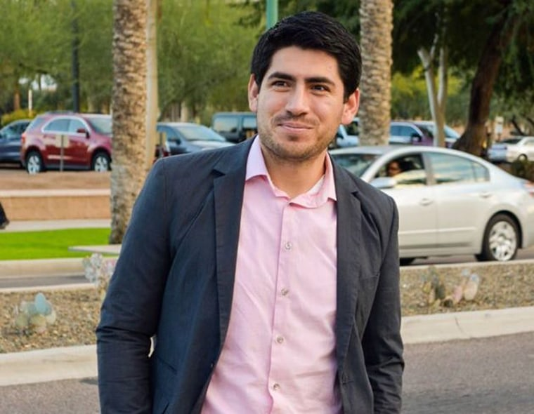 Jose Patiño, 26, teaches math at Agua Fria High School in Avondale, Ariz., as a Teach for America corps member.