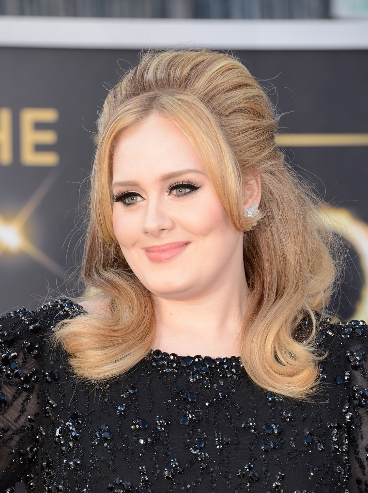 Image: Adele at the Oscars in 2013