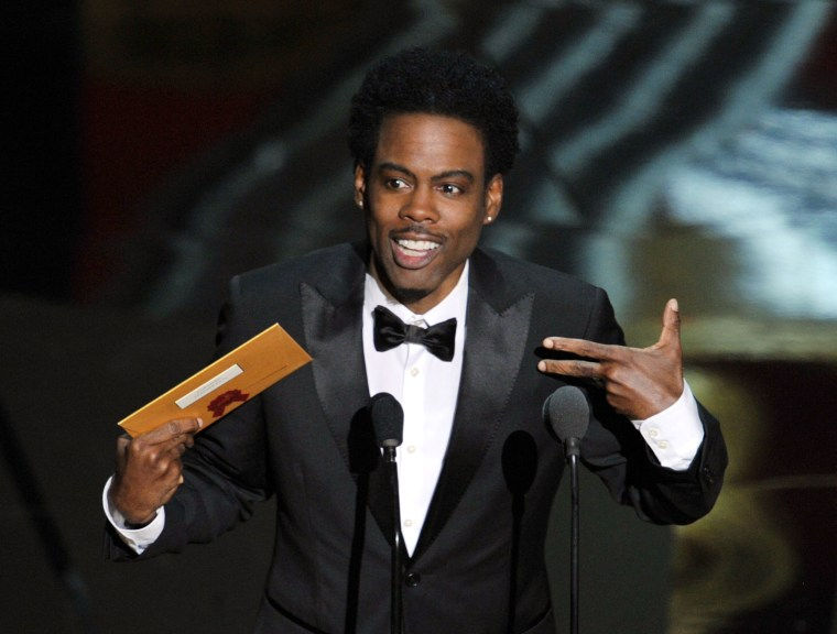 Image: Host Chris Rock speaks onstage during the 84th Annual Academy Awards
