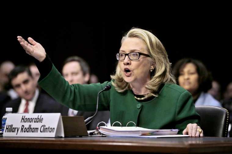 Image: Hillary Rodham Clinton testifies on Capitol Hill in Washington on Jan. 23, 2013