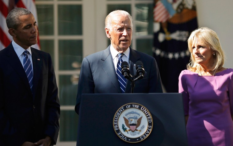 Image: U.S. Vice President Biden announces his he will not seek the 2016 Democratic presidential nomination