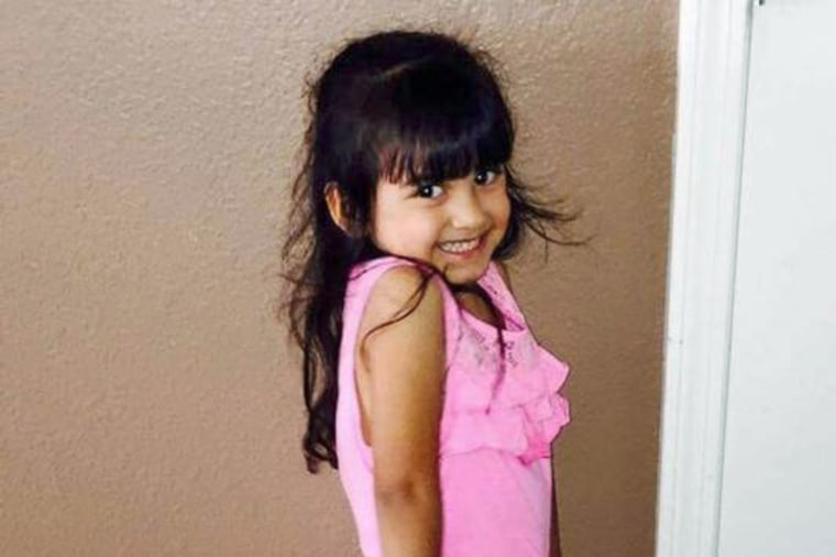 Lilly Garcia, 4, was killed in an apparent road rage attack in Albuquerque, New Mexico, on Oct. 20, 2015.