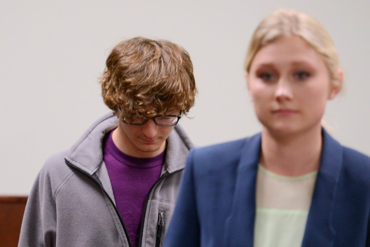Image: Christopher Leonard appears in court to give a sworn testimony