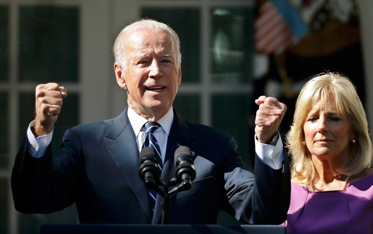 Image: U.S. Vice President Biden announces he will not seek the 2016 Democratic presidential nomination during an appearance in Rose Garden of the White House in Washington