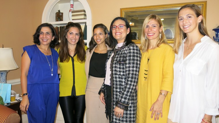 From left to right: Marta Michelle Colón - Co Founder AccessLatina, Nathalie Molina Niño - Chief Revenue Officer of PowerToFly and Co Founder of Entrepreneurs Athena Center for Leadership Studies Barnard University, Bianca Cabán - CEO of Koban Holdings LLC, Eva Vásquez - President of Vaulting Ventures, and Lucienne Gigante - Co Founder AccessLatina.