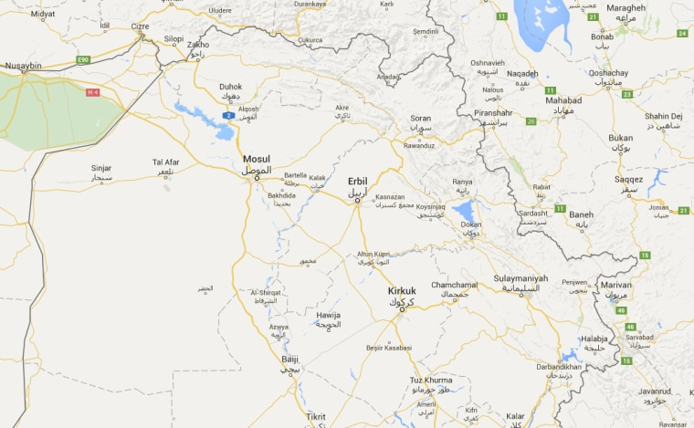 Image: A map shows northern Iraq
