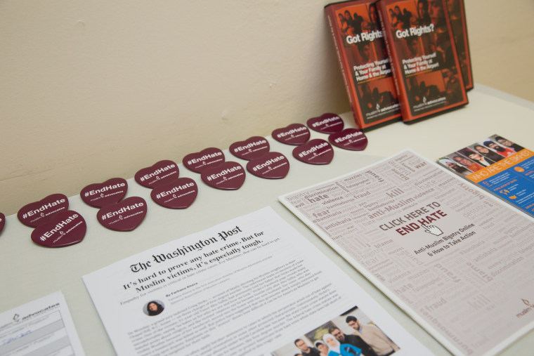 """#EndHate materials at a congressional briefing hosted by The Sikh Coalition and Muslim Advocates on """"Understanding Hate Violence in America,"""" Thursday, October 22, 2015."""