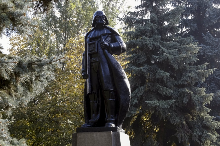 """Image: Monument to character of Darth Vader from """"Star Wars"""""""