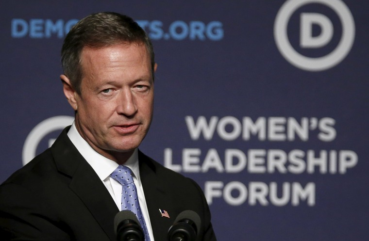 Image: Democratic presidential candidate O'malley speaks at the Democratic National Committee's Women's Leadership Forum's 22nd annual conference in Washington