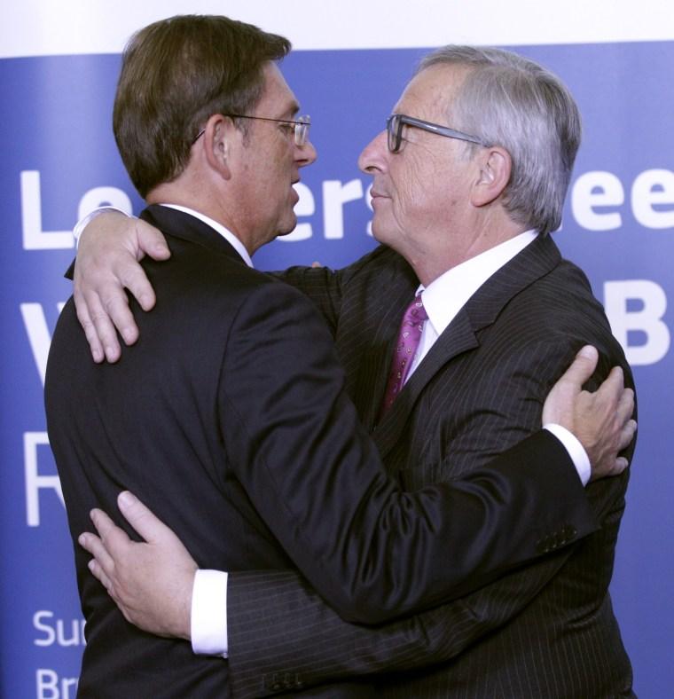 Image: Slovenian prime minister at EU
