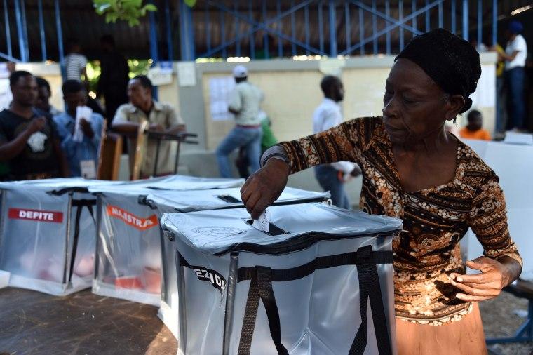 HAITI-VOTE-ELECTIONS