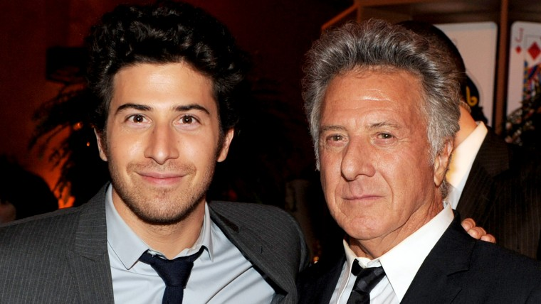 Actors Jake Hoffman and his father Dustin Hoffman
