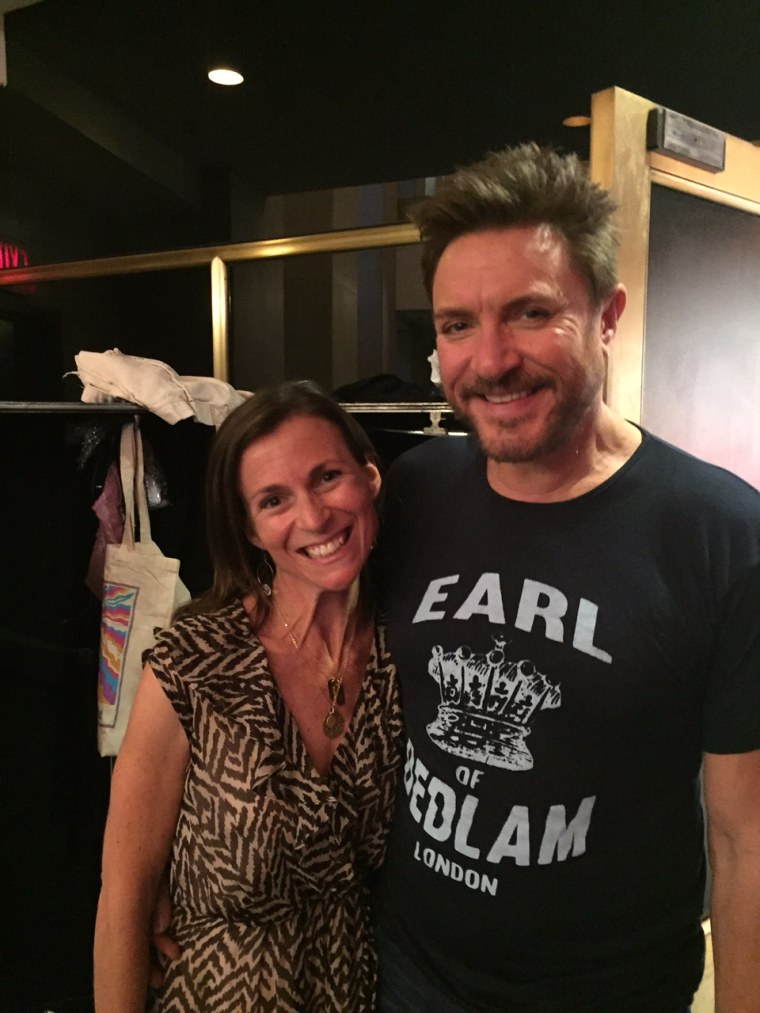 Kerry Byrnes with Simon Le Bon in September.