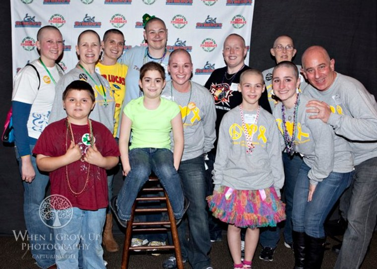 "My team, ""Girls Gone Bald,"" was made up of pediatric oncology nurses, staff, family and friends."