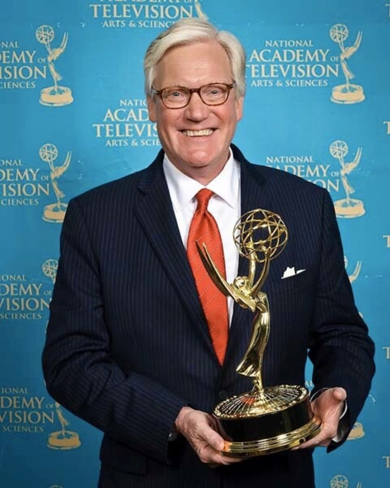 Dotson with the most recent of his eight national Emmys