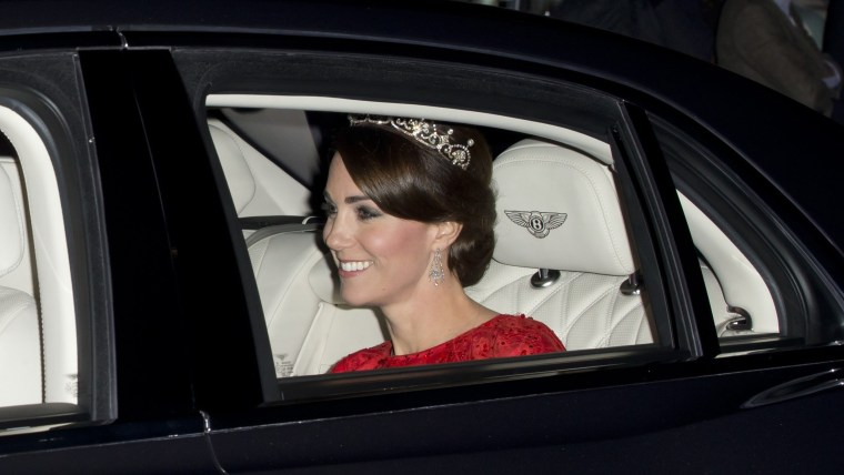 Image: (FILE) Duchess of Cambridge Wears The Queen's Tiara State Visit Of The President Of The People's Republic Of China - Day 2