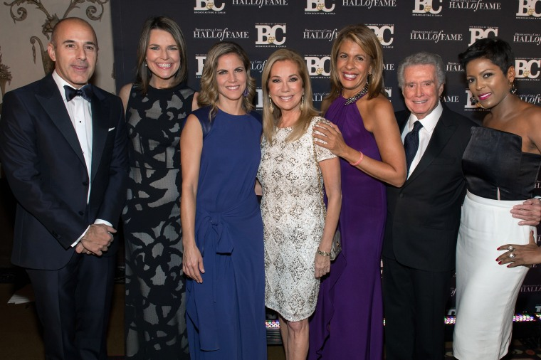 Kathie Lee Gifford was joined at the Hall of Fame ceremony by TODAY's Matt Lauer, Savannah Guthrie, Natalie Morales, Hoda Kotb and Tamron Hall, along with former longtime co-host Regis Philbin.