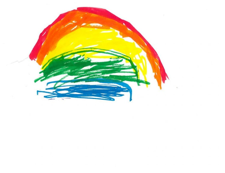 """""""I love rainbows, they make me happy...you can think of those things too when you're sad or not feeling so good...I drew you one...I know all the colors in order,"""" Andrew wrote in his letter to Governor Hogan."""