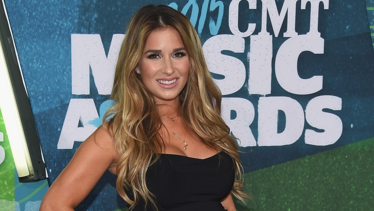 Singer Jessie James Decker attends the 2015 CMT Music awards at the Bridgestone Arena.